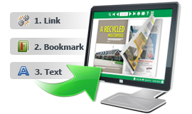 Mantenha Hyperlink PDF, Bookmark e texto no flip book